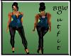 BBW Blue Sedgie outfit
