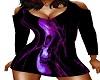 Purple Skull Blk Dress