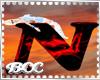 [BCC]N Letter-Red Black