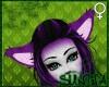 )S( Furry FOX Ears Purpl