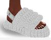 White Furry Slides