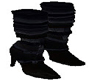 Scrunch boot black