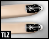 [TLZ] Black ribbon nails