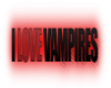 i love vampires sticker
