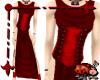 Chiton Corset Dress Red