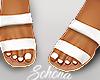 ṩ Brea Sandals White
