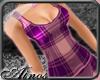 {A}Violet Plaid Top