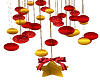 Red Gold Xmas Ornaments