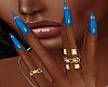 !P! Rings Blue Nails