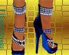 FLS Sandals - Blue Silve