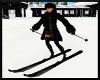 Black animated ski