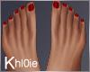 K red toe nails flat fee