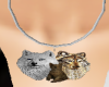wolf family male pendant