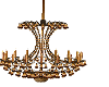 chandelier brown