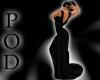 [POD] Black Drape Dress