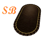 SB* Oval Brown Rug *Lux