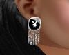 Playboy dangling earring