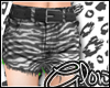 #Zebra Shorts - White#