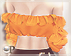 Ruffles Top Orange