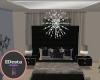 onyx silver chandelier