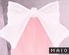 🅜 PINKU: bow lrg wht