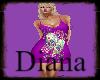 purple skelet dress