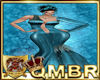 QMBR Gown Shimmer Teal