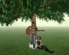 pareja guitarra arbol