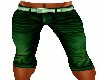 GREEN LONG SHORTS (M)
