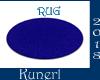*K* Blue Round Rug