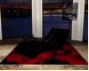 Black Silk Lounge Chair