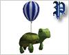 Turtle Balloon BlueWhite