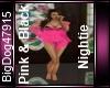 [BD]Pink & Black Nightie