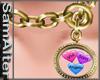 Locket  Chain 3 hearts