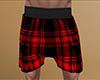 Red PJ Shorts Plaid (M)