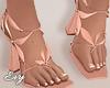 Peach Petal Heels