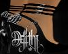 hex heels black