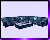 teal club sofa