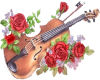 Rose Violin STICKER