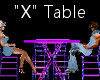 """""""X"""" Club Table for 4"""