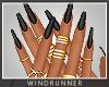 WR! Matte Black Nails