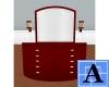 [A07-M]Dark Red Dresser