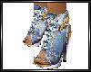 Blue jeans sandals