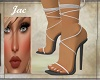 ~J ~LACED SANDALS SILVER