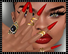 Red Nails Ring Stiletto