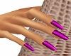 Julia Dark Pink Nails