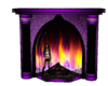 purple chill fireplace