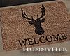 H. Deer Door Mat
