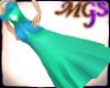 MG Elegant aqua dress