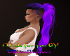 2 tone purple ponytail